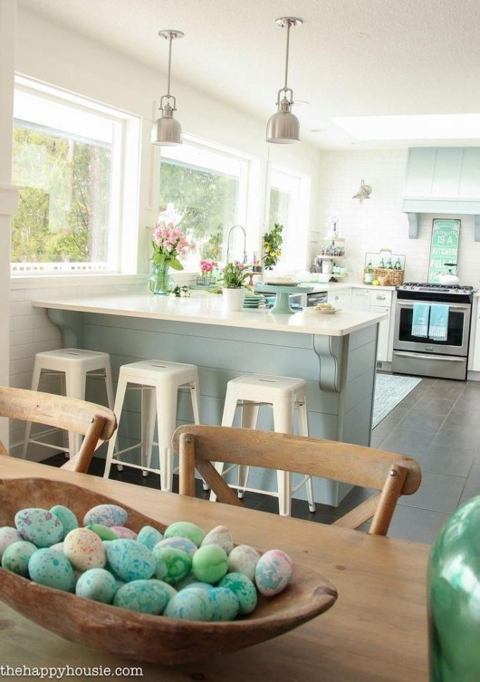 Elegant Beach Coastal Style Kitchen Decor Ideas 44