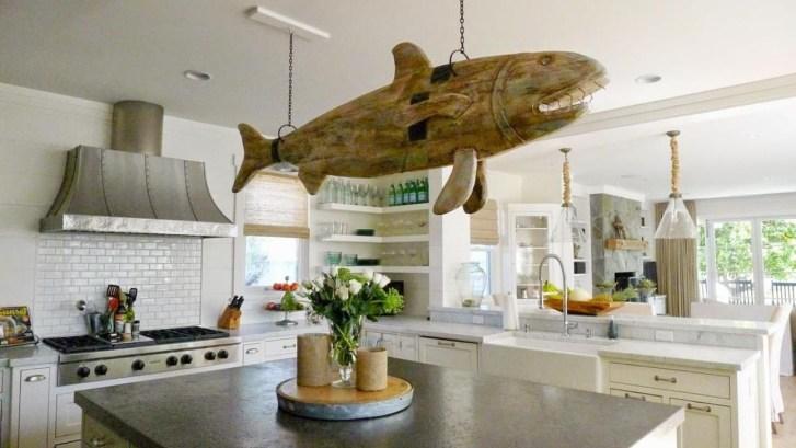 Elegant Beach Coastal Style Kitchen Decor Ideas 49