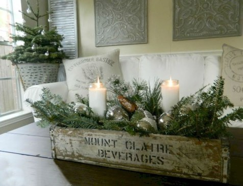 Romantic Rustic Christmas Decoration Ideas 06