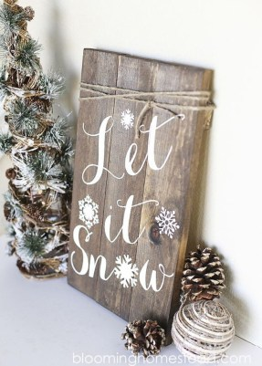 Romantic Rustic Christmas Decoration Ideas 17