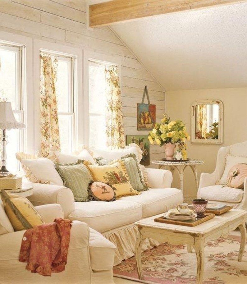 Shabby Chic Living Room Design For Your Home 14