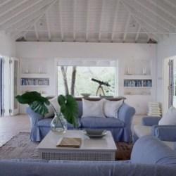 Stylish Coastal Themed Living Room Decor Ideas 16