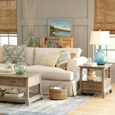 Stylish Coastal Themed Living Room Decor Ideas 27