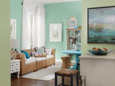 Stylish Coastal Themed Living Room Decor Ideas 46