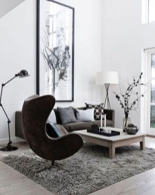 Affordable Apartment Living Room Design Ideas With Black And White Style 01