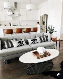 Affordable Apartment Living Room Design Ideas With Black And White Style 05