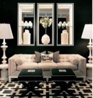 Affordable Apartment Living Room Design Ideas With Black And White Style 09