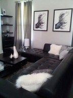 Affordable Apartment Living Room Design Ideas With Black And White Style 10