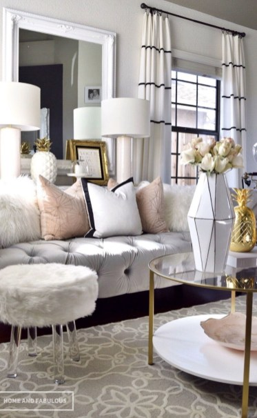 Affordable Apartment Living Room Design Ideas With Black And White Style 24