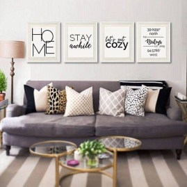 Affordable Apartment Living Room Design Ideas With Black And White Style 40