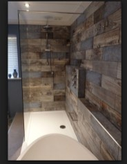 Comfy Farmhouse Wooden Bathroom Design Ideas 02