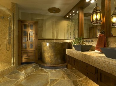 Comfy Traditional Bathroom Design Ideas With Japanese Style 42