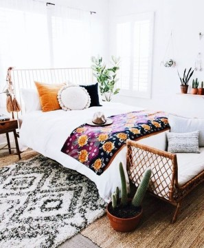 Lovely Boho Bedroom Decor Ideas 13