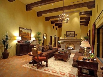 Luxury European Living Room Decor Ideas With Tuscan Style 20