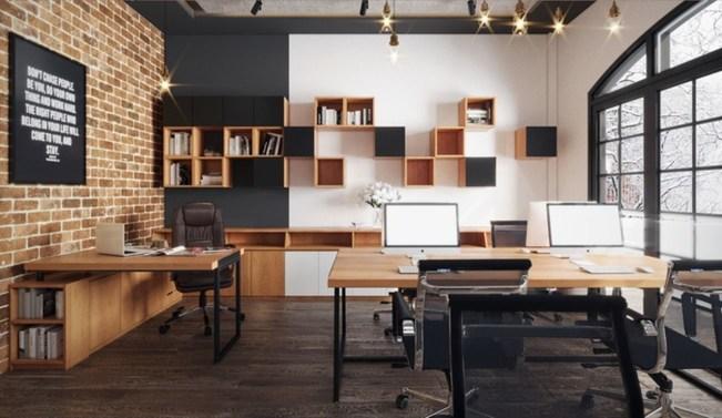 Magnificient Industrial Office Design Ideas 10