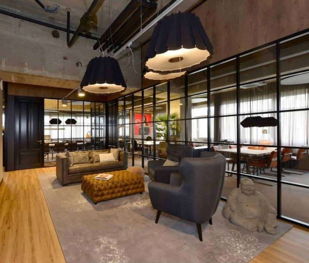 Magnificient Industrial Office Design Ideas 47