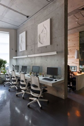 Magnificient Industrial Office Design Ideas 50