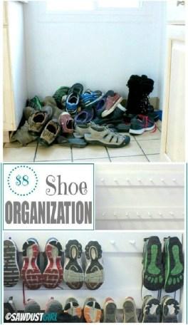 Minimalist Tiny Apartment Shoe Storage Design Ideas 46