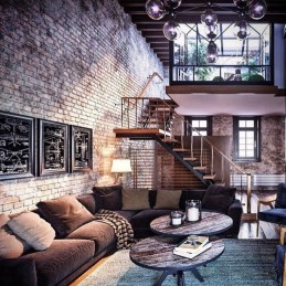 Perfect Industrial Style Loft Designs Ideas For Living Room 18