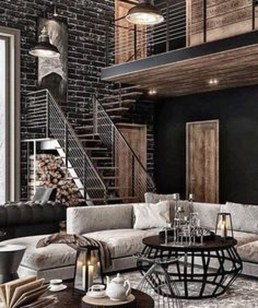 Perfect Industrial Style Loft Designs Ideas For Living Room 45