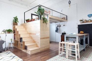 Relaxing Small Loft Bedroom Designs 15