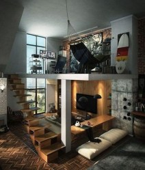 Relaxing Small Loft Bedroom Designs 18