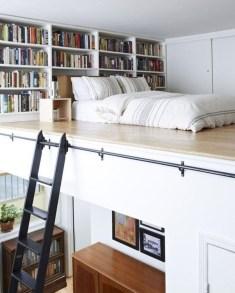 Relaxing Small Loft Bedroom Designs 31