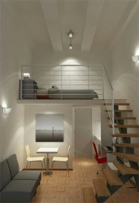 Relaxing Small Loft Bedroom Designs 35