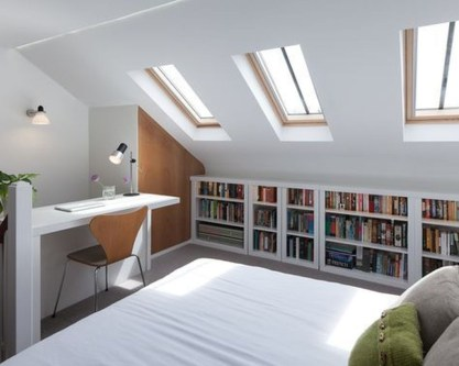 Relaxing Small Loft Bedroom Designs 49