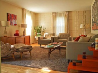 Unique Mid Century Living Room Ideas With Furniture 30