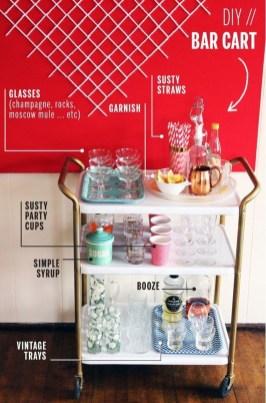 Wonderful Apartment Coffee Bar Cart Ideas 42