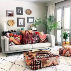 Wonderful Bohemian Design Decorating Ideas For Bedroom 05