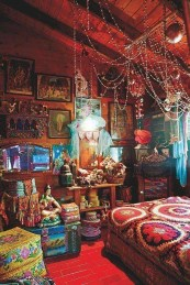 Wonderful Bohemian Design Decorating Ideas For Bedroom 17