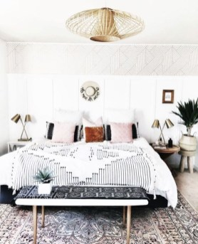 Wonderful Bohemian Design Decorating Ideas For Bedroom 31