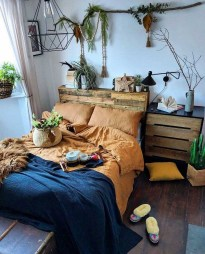 Wonderful Bohemian Design Decorating Ideas For Bedroom 46