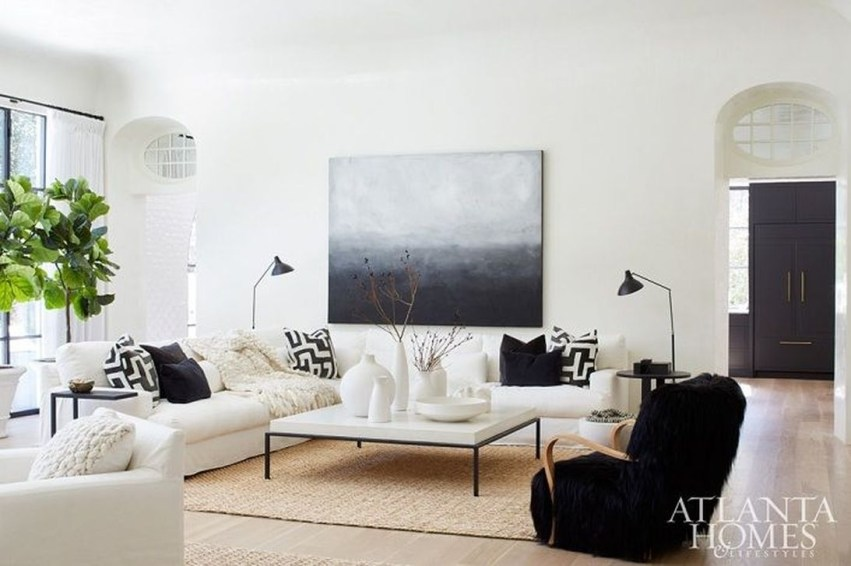 Catchy Living Room Designs Ideas With Bold Black Furniture 22