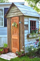 Cool Small Storage Shed Ideas For Garden 44