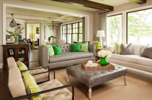 Enchanting Living Rooms Ideas With Combinations Of Grey Green 24