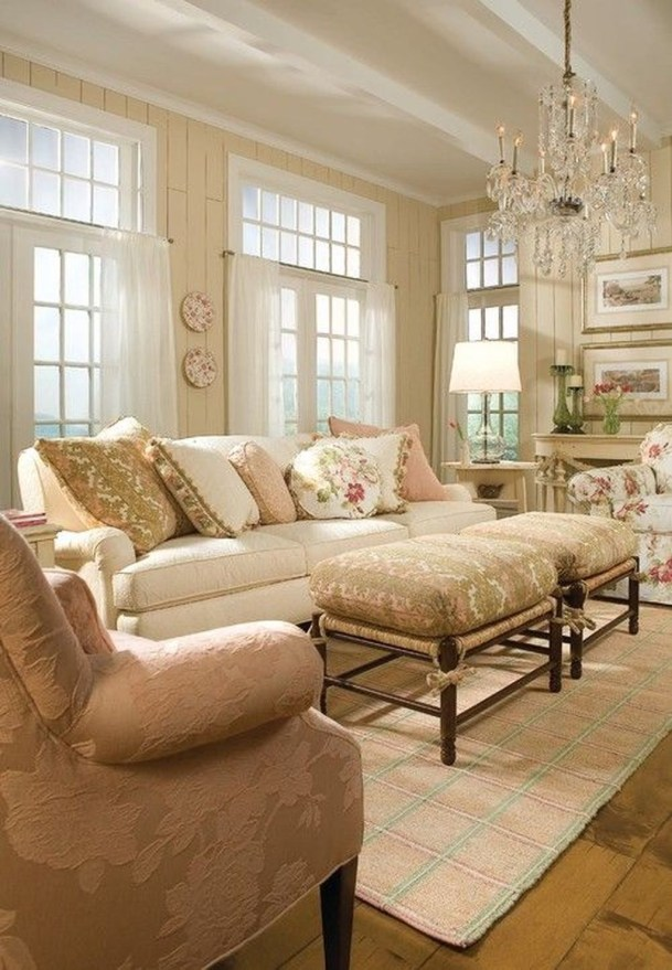 Impressive French Style Living Room Designs Ideas 28
