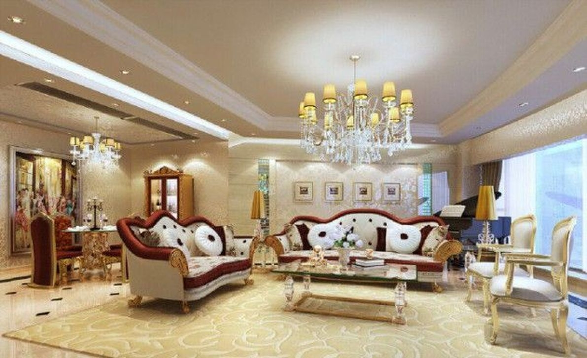 Impressive French Style Living Room Designs Ideas 52