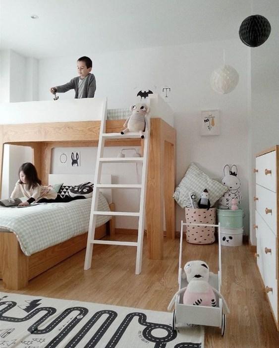 Inspiring Shared Kids Room Design Ideas 14