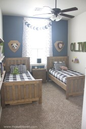 Inspiring Shared Kids Room Design Ideas 20