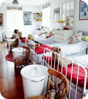 Inspiring Shared Kids Room Design Ideas 21