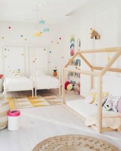 Inspiring Shared Kids Room Design Ideas 25