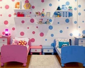 Inspiring Shared Kids Room Design Ideas 26