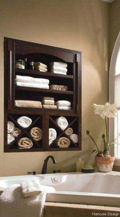 Luxury Towel Storage Ideas For Bathroom 27