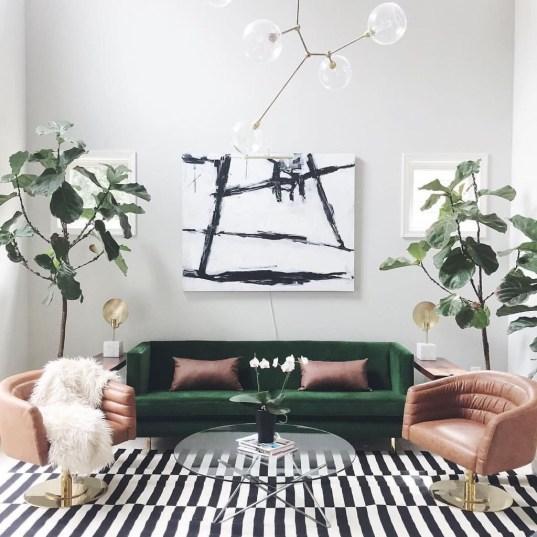Popular Velvet Sofa Designs Ideas For Living Room 23