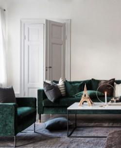 Popular Velvet Sofa Designs Ideas For Living Room 52