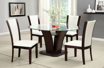 Striking Round Glass Table Designs Ideas For Dining Room 15