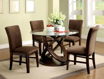 Striking Round Glass Table Designs Ideas For Dining Room 16